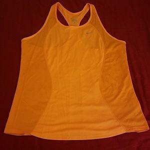 Nike Dri-fit orange workout tank top - XL